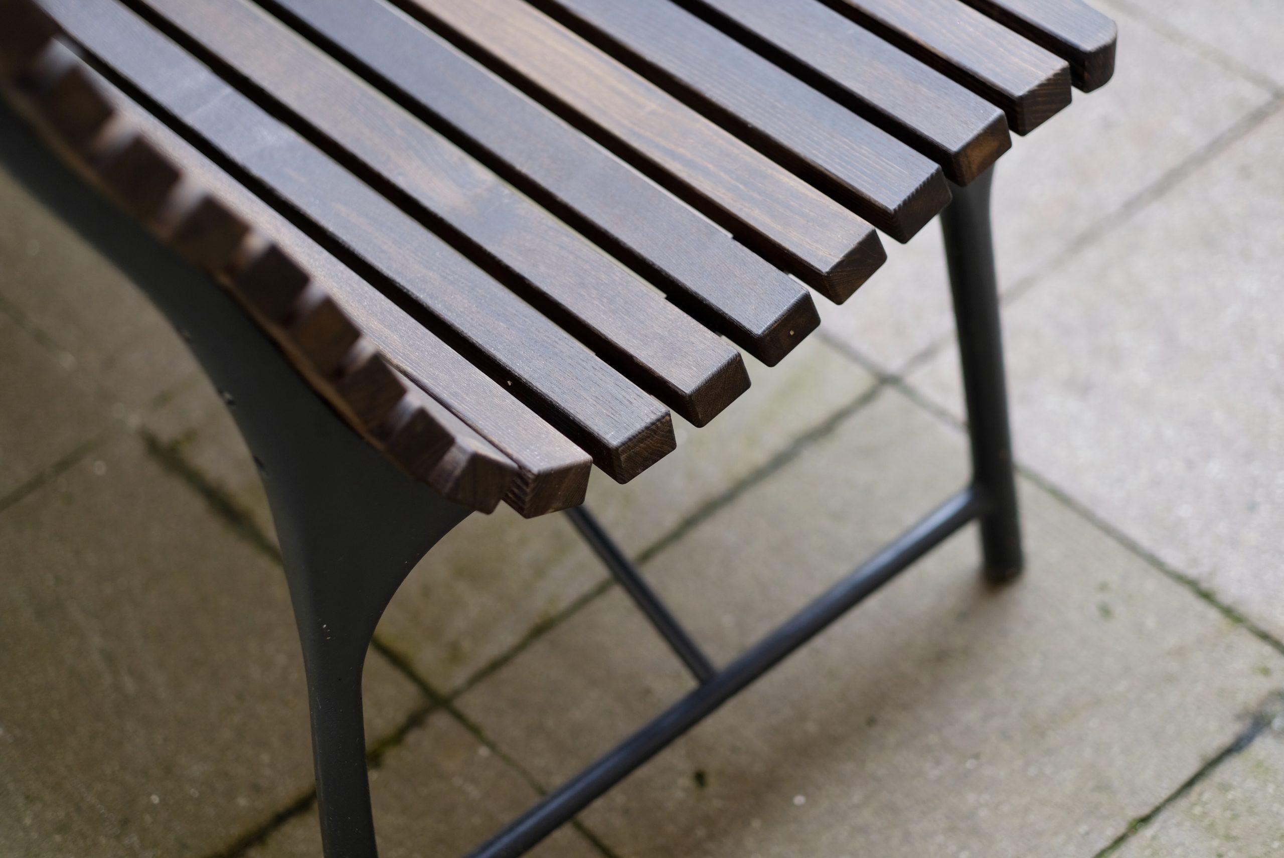 Nová lavička - detail